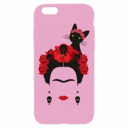 Чохол для iPhone 6 Plus/6S Plus Frida Kalo and cat
