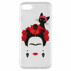 Чохол для iPhone 7 Frida Kalo and cat