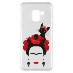 Чохол для Samsung A8 2018 Frida Kalo and cat
