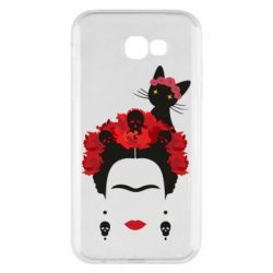 Чохол для Samsung A7 2017 Frida Kalo and cat