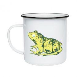 Кружка емальована Froggy Night
