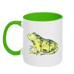 Кружка двоколірна 320ml Froggy Night