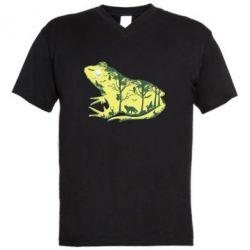 Чоловіча футболка з V-подібним вирізом Froggy Night