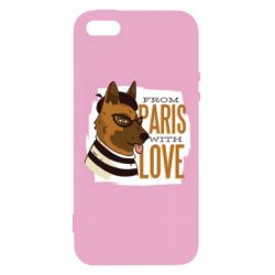 Чехол для iPhone5/5S/SE From Paris with love
