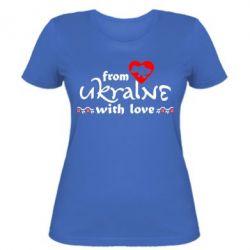Женская футболка From Ukraine (вишиванка) - FatLine