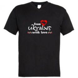 Мужская футболка  с V-образным вырезом From Ukraine (вишиванка) - FatLine
