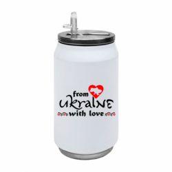 Термобанка 350ml From Ukraine (вишиванка)