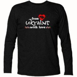 Футболка с длинным рукавом From Ukraine (вишиванка) - FatLine