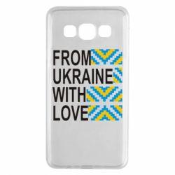 Чехол для Samsung A3 2015 From Ukraine with Love (вишиванка)