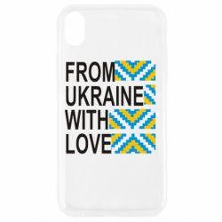Чехол для iPhone XR From Ukraine with Love (вишиванка)
