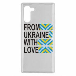 Чехол для Samsung Note 10 From Ukraine with Love (вишиванка)