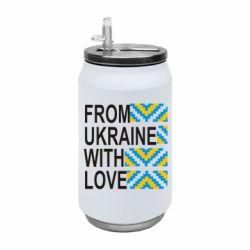 Термобанка 350ml From Ukraine with Love (вишиванка)