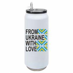 Термобанка 500ml From Ukraine with Love (вишиванка)