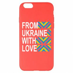 Чехол для iPhone 6 Plus/6S Plus From Ukraine with Love (вишиванка) - FatLine