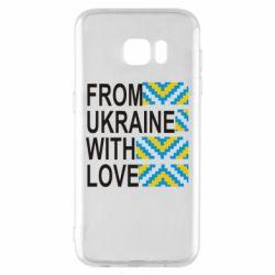 Чехол для Samsung S7 EDGE From Ukraine with Love (вишиванка)