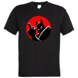 Чоловіча футболка з V-подібним вирізом Fuck Batman