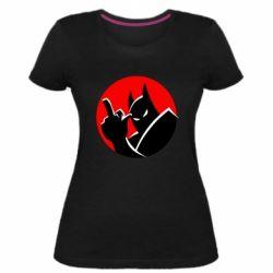 Жіноча стрейчева футболка Fuck Batman