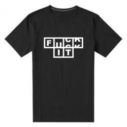 Чоловіча стрейчева футболка FUCK  IT