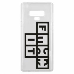 Чохол для Samsung Note 9 FUCK  IT