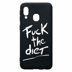 Чехол для Samsung A40 Fuck the diet