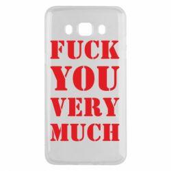 Чехол для Samsung J5 2016 Fuck you very much