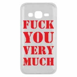 Чехол для Samsung J2 2015 Fuck you very much