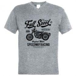 Чоловіча футболка з V-подібним вирізом Full Speed