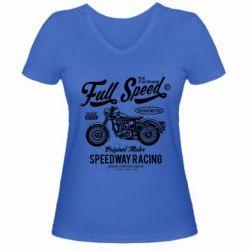 Жіноча футболка з V-подібним вирізом Full Speed