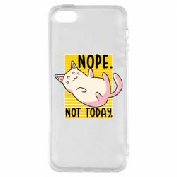 Чехол для iPhone5/5S/SE Funny cat and text
