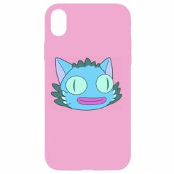 Чехол для iPhone XR Funny cat from Rick and Morty season 4
