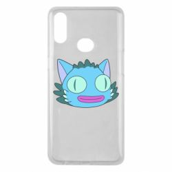Чехол для Samsung A10s Funny cat from Rick and Morty season 4