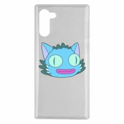 Чехол для Samsung Note 10 Funny cat from Rick and Morty season 4