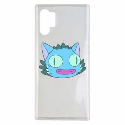 Чехол для Samsung Note 10 Plus Funny cat from Rick and Morty season 4