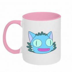 Кружка двухцветная 320ml Funny cat from Rick and Morty season 4