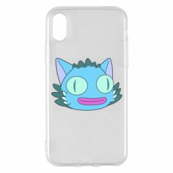 Чехол для iPhone X/Xs Funny cat from Rick and Morty season 4
