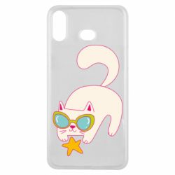 Чехол для Samsung A6s Funny cat with star