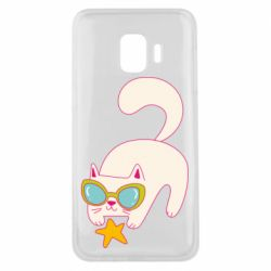 Чехол для Samsung J2 Core Funny cat with star