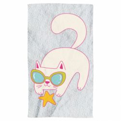 Рушник Funny cat with star