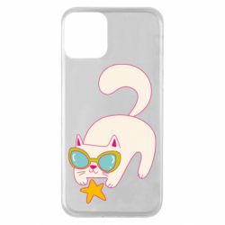 Чехол для iPhone 11 Funny cat with star