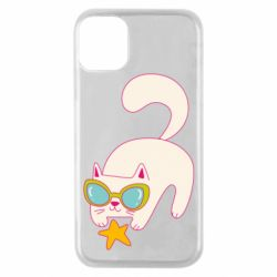 Чехол для iPhone 11 Pro Funny cat with star