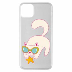 Чехол для iPhone 11 Pro Max Funny cat with star