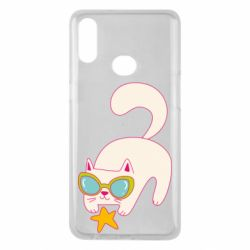 Чехол для Samsung A10s Funny cat with star
