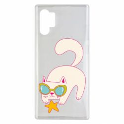 Чехол для Samsung Note 10 Plus Funny cat with star