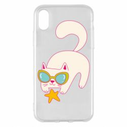 Чехол для iPhone X/Xs Funny cat with star