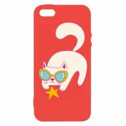 Чехол для iPhone5/5S/SE Funny cat with star