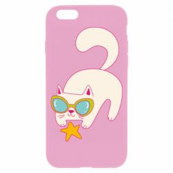 Чехол для iPhone 6/6S Funny cat with star