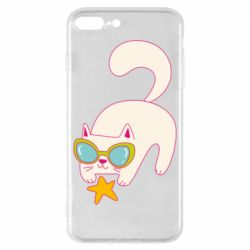 Чехол для iPhone 8 Plus Funny cat with star