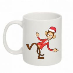 Кружка 320ml Funny Christmas monkey