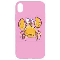 Чехол для iPhone XR Funny crab