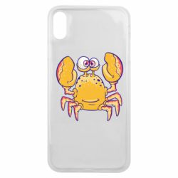 Чехол для iPhone Xs Max Funny crab